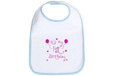 1st Birthday Baby Bib by CafePress