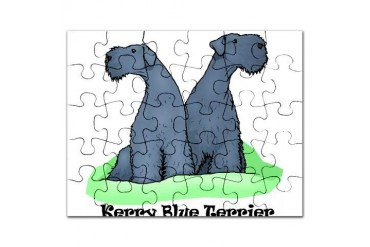 Kerry Blue sq with words.png Pets Puzzle by CafePress