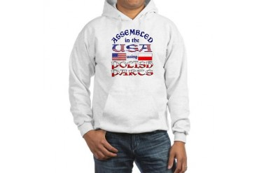 USA/Polish Parts Funny Hooded Sweatshirt by CafePress