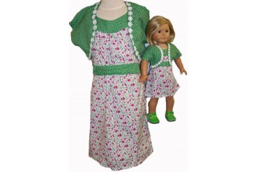Matching Girl Doll Clothes Sundress AndJacket Size 10