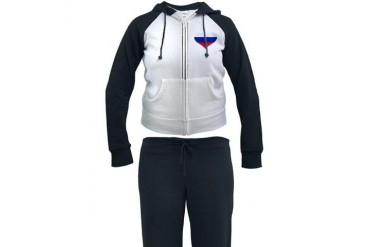 Slovakia flag heart Flag Women's Tracksuit by CafePress