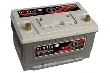 Braille Lithium Ion Intensity Deep Cycle Battery 1410 Amp 12 x 7 x 7 inch Left Positive BCI 65