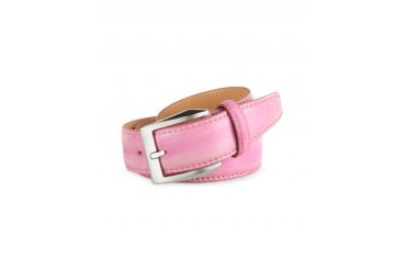Men's Pink Hand Painted Italian Leather Belt