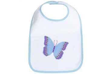 Purple Blue Butterfly Animal Bib by CafePress