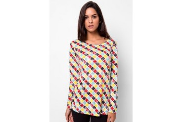 Heath Long Tshirt With Rhombus Full Print