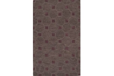 Dalyn Tones Transitional Gray Circles Squares Lattice Rings Area Rug