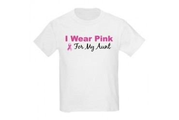 I Wear Pink For My Aunt Kids T-Shirt