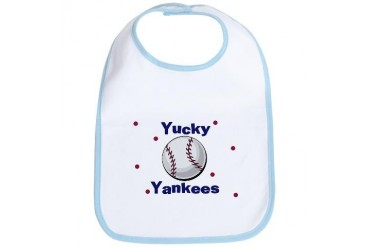 Yucky Yankees Baby Sports Bib by CafePress
