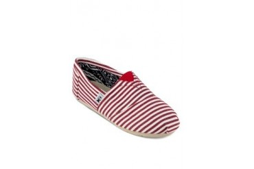 Gia Striped and Tribal Slip-ons