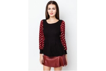 VnJ Knitted Long Sleeve Blouse