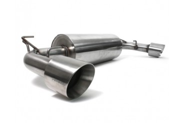 Perrin Performance 2.5 Inch Catback Exhaust Dual Tip without Resonator Scion FR-S 13-14