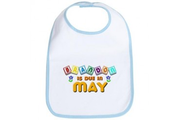 Brandon is Due in May.png Love Bib by CafePress