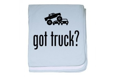 Monster Truck Funny baby blanket by CafePress