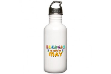 Brandon is Due in May.png Stainless Water Bottle 1 Love Stainless Water Bottle 1.0L by CafePress
