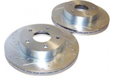 Crown Automotive Drilled and Slotted Rotor Set 52098672DS Disc Brake Rotors