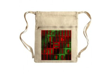 Christmas Patchwork Sack Pack Christmas Cinch Sack by CafePress