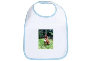 boxer dog Pets Bib by CafePress