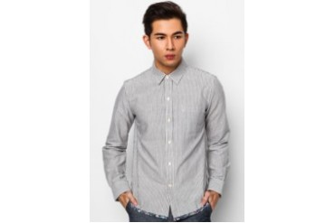 Long Sleeve Shirt with Piping