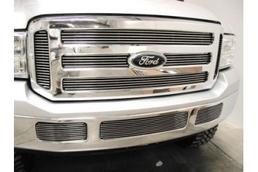 Grillcraft BG Series Bumper Tow Hook Billet Grille 2pc Ford F250 Super Duty 05-07