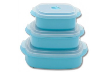 6pc Microwave Cookware - Turquoise