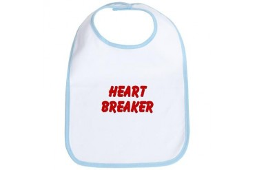 Heart Breaker Funny Bib by CafePress