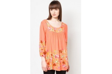 colours Multicolored Embroidered Floral Top