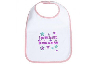 Retro Cute Aunt Cute Bib by CafePress