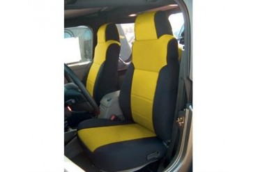 Coverking Black and Yellow Neoprene Front Seat Covers  SPC129 Seat Cover
