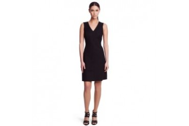 Cailey Twill and Ponte Dress