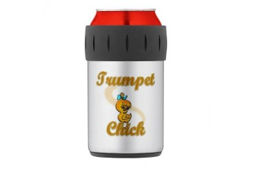 Trumpet Chick 2 Thermos Can Cooler Music Thermosreg; Can Cooler by CafePress