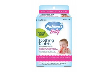 Homeopathic Baby Natural Relief Teething Tablets - 135 Tablets, 2 Pack