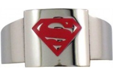 DC Comics Superman Boxed Logo Steel Ring
