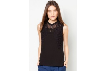 DressingPaula Sleeveless Top With Crochet