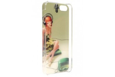 iPhone 5G/5S Girl with Headphones Case