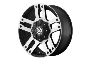 ATX Wheels AX190, 17x8.5 with 5 on 4.5 and 5 on 5 Bolt Pattern - Black AX19078554730 ATX Wheels