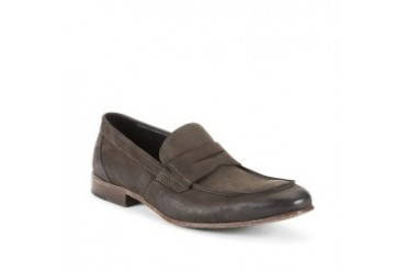 Con-front Brushed-Leather Penny Loafer