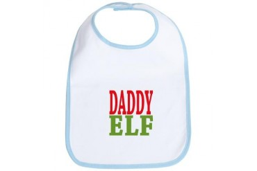 Daddy Elf Christmas Bib by CafePress