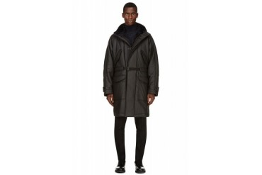 Christopher Kane Black Layered Hooded Parka