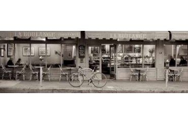 San Francisco Cafe Pano - 1 Poster Print by Alan Blaustein (12 x 36)
