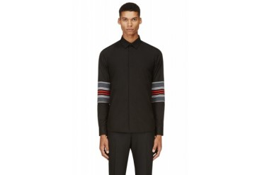 Givenchy Black Knit Sleeve Shirt