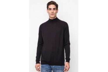 Noir Sur Blanc Mens Roll Long Sleeve Raglan