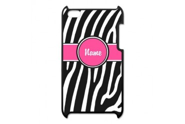 Pink Zebra Print Personalized iPod Touch 4 Case