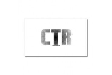 CTR Half Tone Black Black Car Magnet 20 x 12 by CafePress