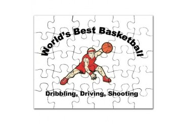 Worlds Best Basketball Cool Puzzle by CafePress