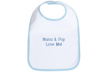 Nana/Pop Boy Baby Bib by CafePress