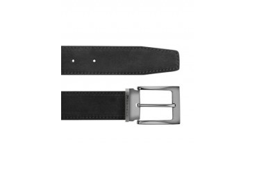 Dallas - Black Suede Leather Belt