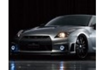 Wald International Black Bison FRP Carbon Front Bumper wFoglamps Nissan R35 GT-R 09-12