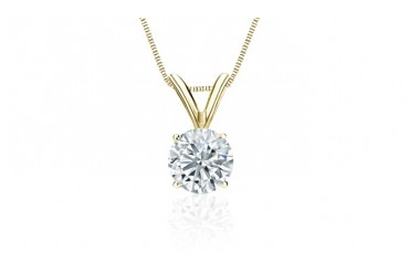 1/2 Carat Certified Diamond Solitaire 14k White, Yellow or Rose Gold Pendant Necklace!