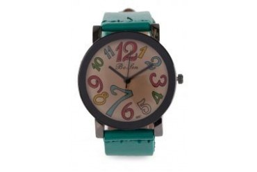 Fourskin Green Colourful Leather Watch