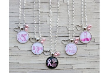 Breast Cancer Awareness Pendant Necklaces